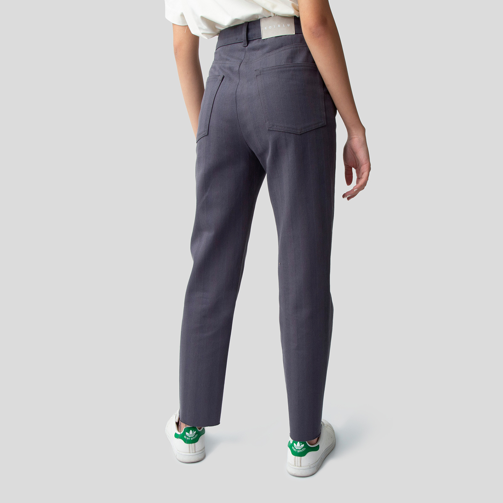 Picture of Navy grey denim straight pants