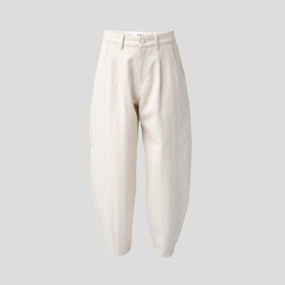 Picture of Ecru denim slouchy pants
