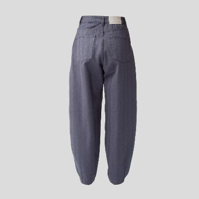 Picture of Navy grey denim slouchy pants