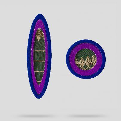 Picture of purple avishan earrings