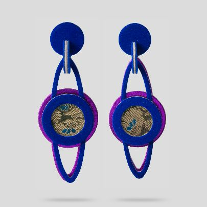 Picture of Blue pamchal earrings