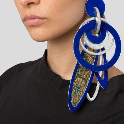 Picture of blue shab-bu earrings