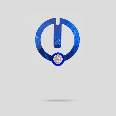 تصویر گل سینه دایره آبی