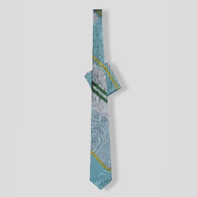 Picture of blue silk tie