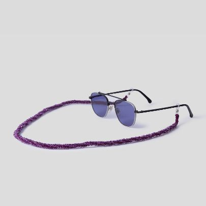 Picture of purple sunglasses strap