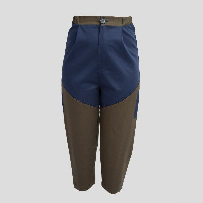 Picture of blue khaaki pocket pants