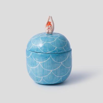 تصویر ظرف زنان کوچک آبی روشن