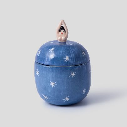 تصویر ظرف زنان کوچک آبی تیره