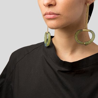 Picture of green circle earrings