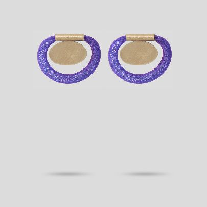 Picture of purple circle earrings