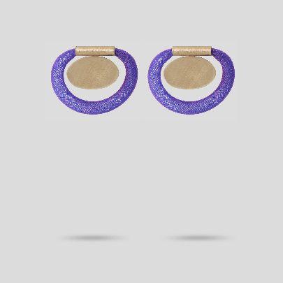 تصویر گوشواره بنفش دایره