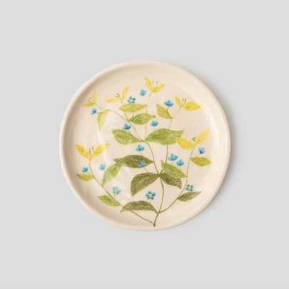 Picture of blue-eyed-mary set of bowl and dish