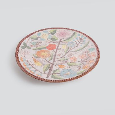Picture of little garden and 5 birds large tray