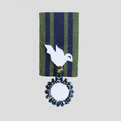 Picture of navy blue & green brooch