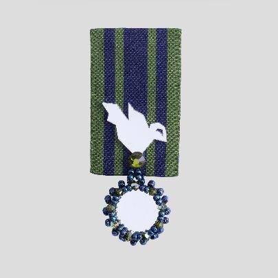 تصویر مدال بوستان سبز و سرمه ای