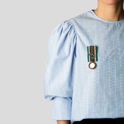 تصویر مدال بوستان سبز و نارنجی