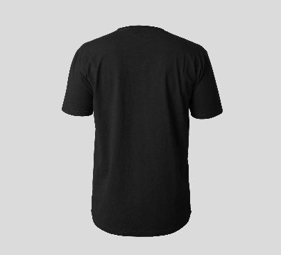 Picture of black t-shirt with pocket
