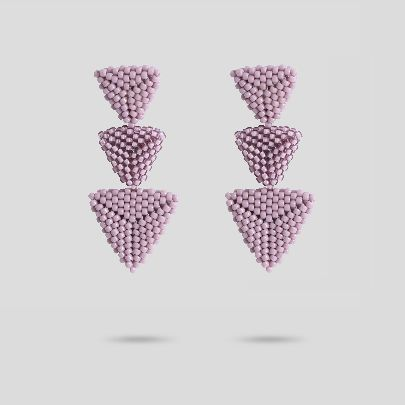 Picture of akoo purple earrings