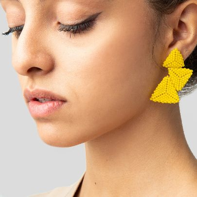Picture of akoo yellow earrings