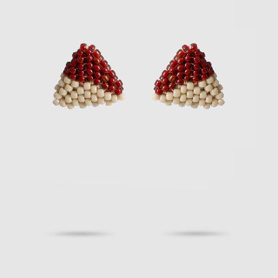 Picture of akoo beige & red earrings
