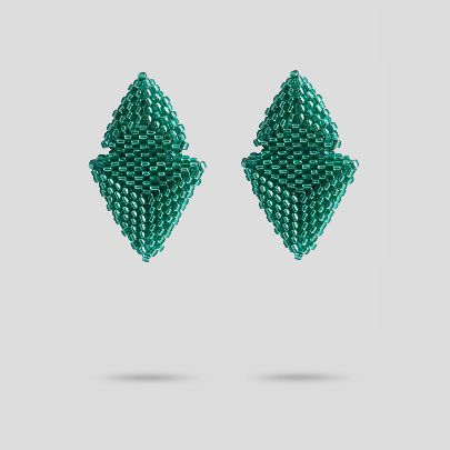 Picture of akoo green earrings