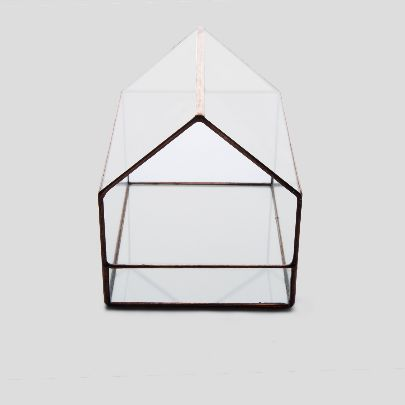Picture of house-shaped glass box