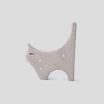 تصویر مجسمه گربه طوسی