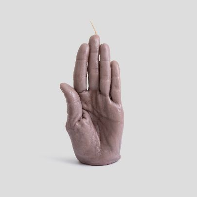 Picture of light purple hand candle