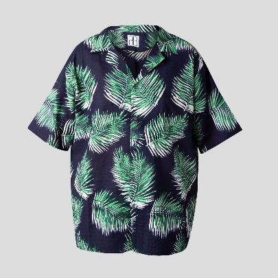 Picture of hawaiian blue shirt