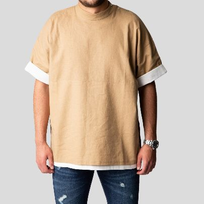 Picture of beige & cream t-shirt