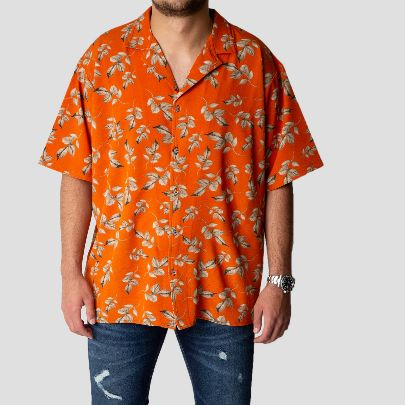Picture of hawaiian orange shirt