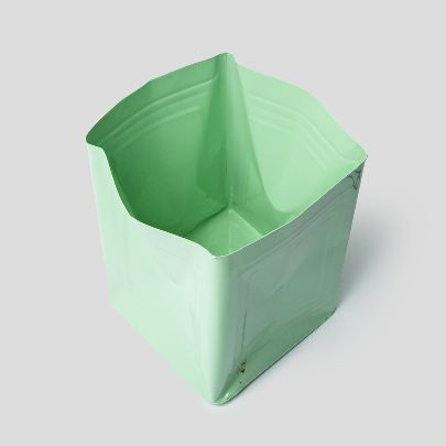 Picture of green tin bucket