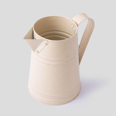 Picture of beige metal pitcher vase