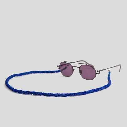 Picture of dark blue sunglasses strap