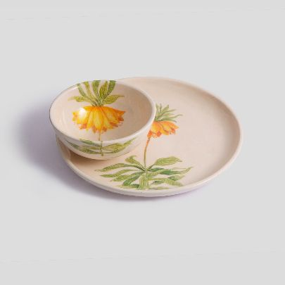 Picture of fritillaria set of bowl and dish
