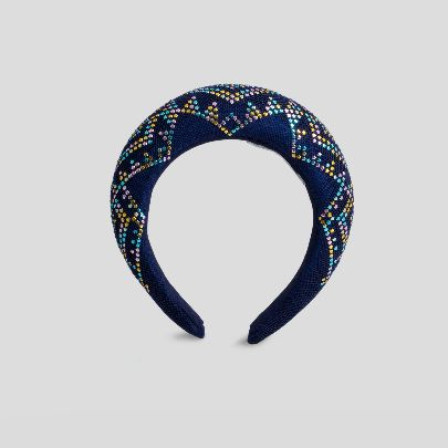 Picture of dark blue and colorfull hairband