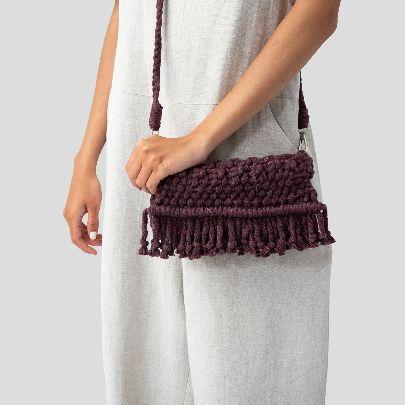 Picture of purple shoulder bag
