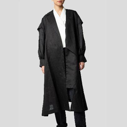 Picture of black linen mantua