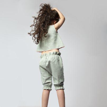 تصویر شلوار بچگانه سبز کش دار