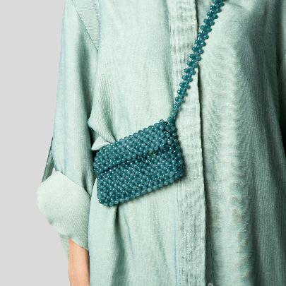 تصویر کیف سبز آبی