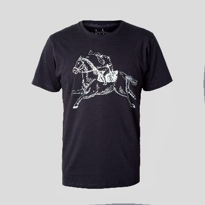 تصویر  آستین کوتاه اسب سوار