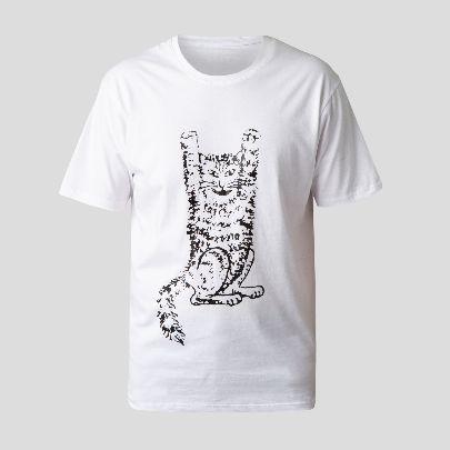 تصویر آستین کوتاه گربه