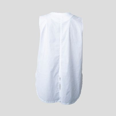 Picture of White top with printed pocket