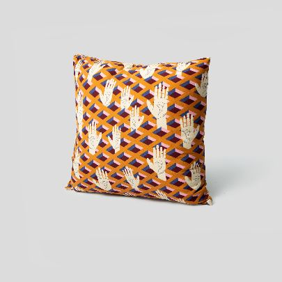 Picture of Orange Hands Cushion