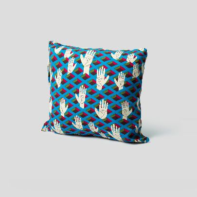 Picture of Blue Hands Cushion