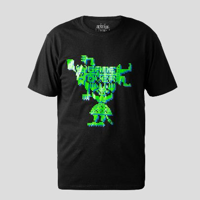 Picture of Green game over T-shirt