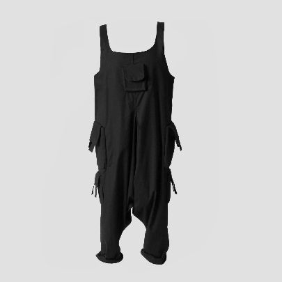 Picture of Black overall with pocket