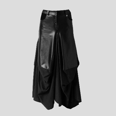 Picture of Black leather skirt