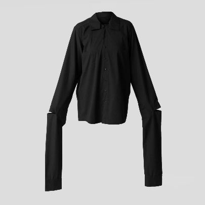 Picture of Black blouse with long sleeve
