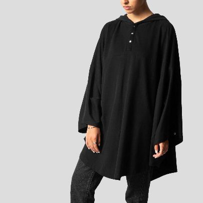 Picture of Black hooded dress
